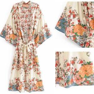 Wildflower Bohemian Kimono Robe